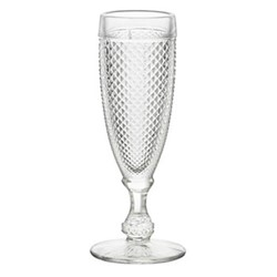 Bicos Set of 4 flutes, H19cm - 11cl, clear