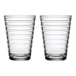 Aino Aalto Pair of tall tumblers, 33cl, clear