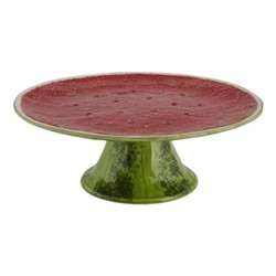 Watermelon Cake stand, 33 x 12.5cm, red/green