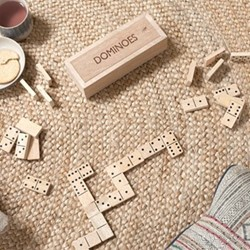 Mango Wood dominoes, 5 x 20.5 x 7.5cm, mango wood