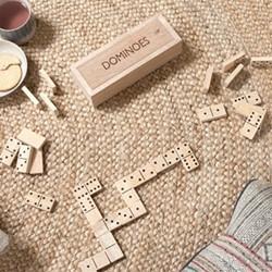 Mango Wood dominoes, 5 x 20.5 x 7.5cm, mango wood