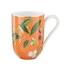 Tresor Fleuri Mug, D8 x H11cm, orange