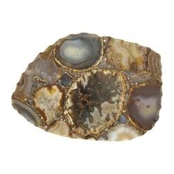 Agate Platter, H2.5 x W25 x D17cm, brown