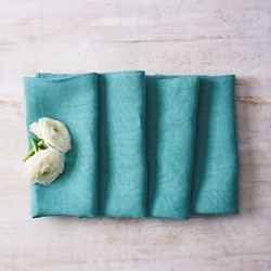 Alma Set of 4 linen napkins, 42 x 42cm, turquoise