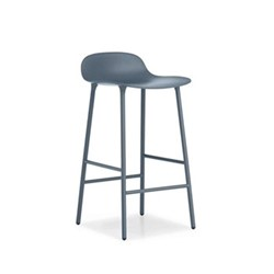 Form Bar stool, L44 x H87 x D44cm, Blue