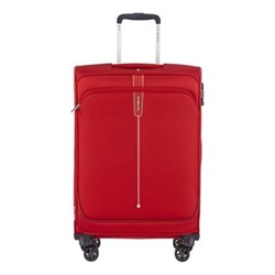 Popsoda Spinner expandable suitcase, 66 x 44 x 28/31cm, red