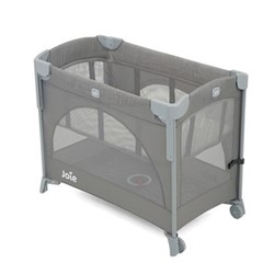 Kubbie Sleep travel cot, H76 x W60 x D100cm, Foggy Grey