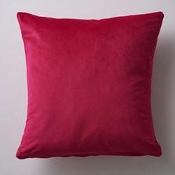 Albion Velvet cushion, 45 x 45cm, hot pink