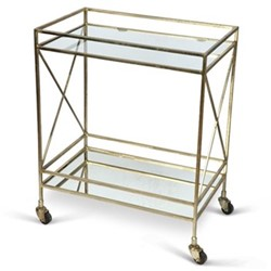 Oxford Drinks trolley, H54 x L41 x D29cm, antique gold