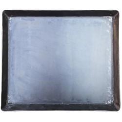 Cast iron tray, H3 x W36 x L30cm, black
