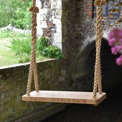 To The Moon & Back Medium swing, 60 x 25 x 3.5cm, oak