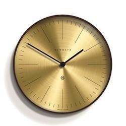 Mr Clarke Wall clock, Dia40 x D4.7cm, brass/dark wood
