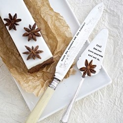 Count The Memories Cake knife, 21cm, silver plated