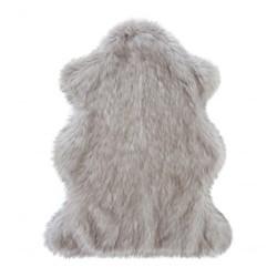 Oyster Faux fur animal rug, 120 x 70cm