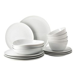 Junto 16 piece dinnerware set, white