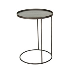 Small round tray table, H66 x D49cm, bronze
