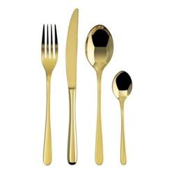 Taste 24 piece cutlery set, gold
