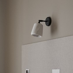 Material, The Black Sheep Wall lamp, H23 x W13 x D18cm, White Marble