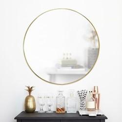 Hubba Mirror, 86 x 86cm, brass