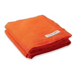 Linen beach towel, orange