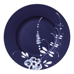 Old Luxembourg Brindille Salad plate, D22cm, blue/white