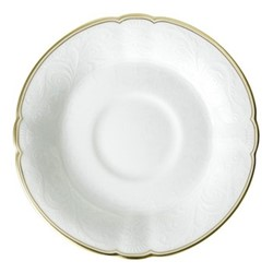 Darley Abbey Pure Gold Tea saucer, 14.5cm, white/gold