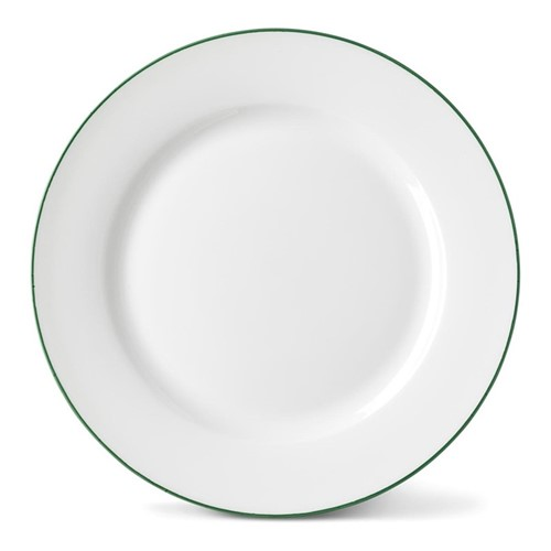 Rainbow Collection Side plate, 20cm, jungle green rim