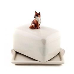 Fox Butter dish, L11.5 x D9 x H10.8cm