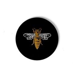 Bee Set of 4 coasters, W10.16 xD10.16cm, black