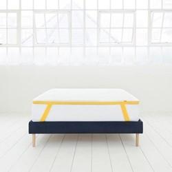 Super king size mattress topper, 200 x 180 x 5cm, white/yellow