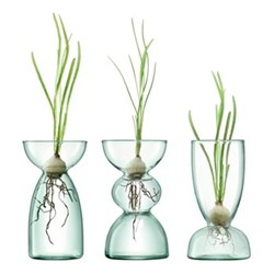 Canopy Trio vase set, H13cm, clear