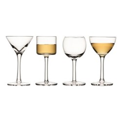 Lulu Set of 4 liqueur glasses, 60ml, clear