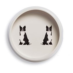 Collie Dog bowl, H6 x D18cm, black/white