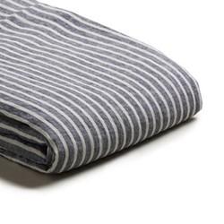 King duvet cover, 220 x 225cm, midnight stripe