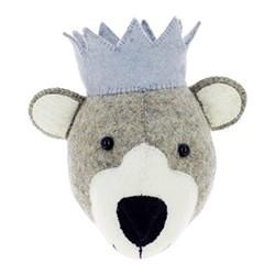 Mini wall mounted baby bear head, H15 x W20 x D18cm
