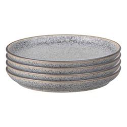 Studio Grey Set of 4 coupe dessert plates, 21cm, granite