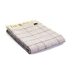 Merino Check Throw, 130 x 180cm, grey