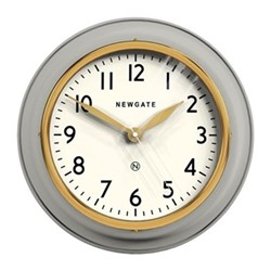 The Cookhouse II Wall clock, Dia35cm, grey/gold