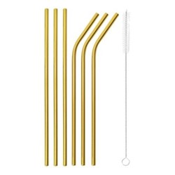 Mix & Play Set of 6 straws, Gold