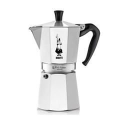 Moka Express Aluminium stovetop coffee maker, 12 cup, silver