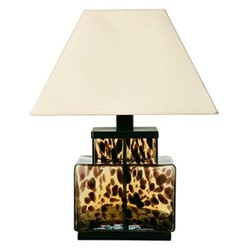 Tortoiseshell Table lamp - base only, H30 x W23 x D23cm, brown