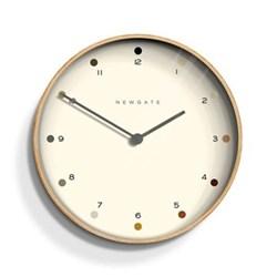 Mr Clarke Wall clock, 28 x 28 x 4.3cm, pale wood finish