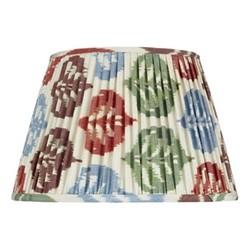 Ikat Silk lampshade, H15 x Dia20cm, Autumnal
