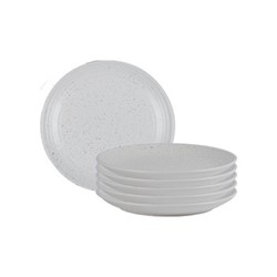 Lowther Set of 6 side plates, D21 x H2.5cm, off white