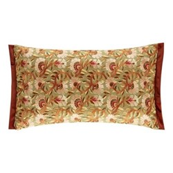 Wardle Embroidered Cushion, W30 x L50cm, Olive/Brick