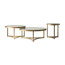 Sundance Side table, H55 x D50cm, antique brass