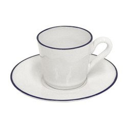 Beja Set of 6 espresso coffee cups and saucers, 8cl, white