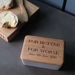 For Butter & For Worse Butter dish, 15 x 10 x 6.5cm, oak