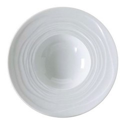 Onde White Set of 6 pasta plates, 27cm
