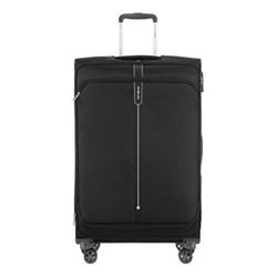 Popsoda Spinner expandable suitcase, 78 x 48 x 31/34cm, black